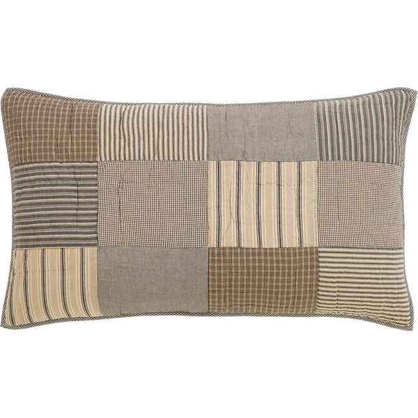 Sawyer Mill Charcoal Sham Patchwork Block - BJS Country Charm
