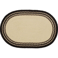 Country Farmhouse Sawyer Mill Pig Braided Jute Rug 20x30 Oval - BJS Country Charm