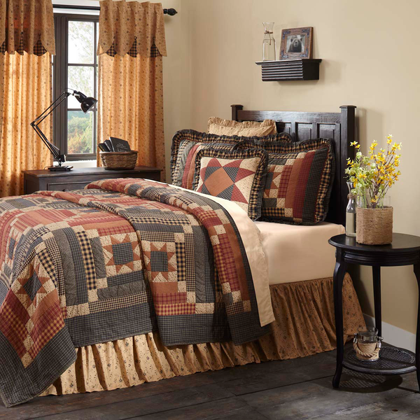 Rustic Country Primitive Maisie Quilt Bedding - BJS Country Charm