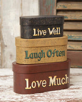 Country Primitive Live Well Laugh Often Love Much Nesting Boxes