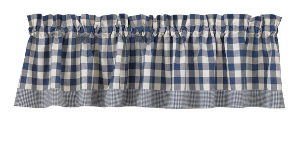 Primitive York Blue Valance - BJS Country Charm
