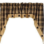Country Primitive Black Farmhouse Star Swags