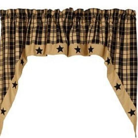 Black Farmhouse Star Swags - BJS Country Charm