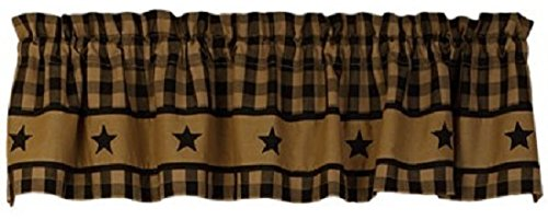 Black Country Star Valance Rustic Western