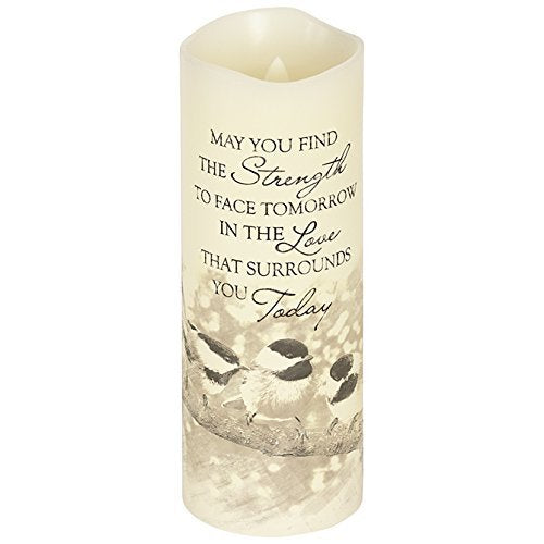 Bereavement Led Flameless Candle May you Find Strength - BJS Country Charm