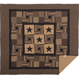 Country Primitive Black Check Star Quilt