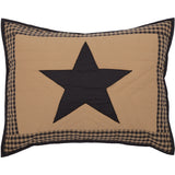 Country Primitive Black Check Star Quilt - BJS Country Charm