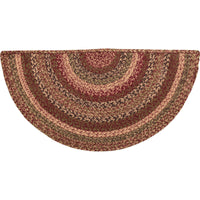 Country Primitive Cider Mill Braided Rug Slice w Pad
