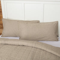 Sawyer Mill Charcoal Ticking Stripe Quilt Coverlett - BJS Country Charm