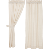 Flax Natural Curtain Panels Country Farmhouse