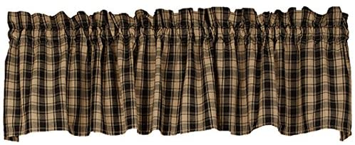 Country Primitive Lexington Valance Black & Tan - BJS Country Charm