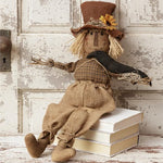 Primitive Scarecrow Doll with Crown and Sunflower
