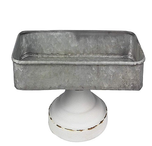 Country Farmhouse Galvanized Table Tray - BJS Country Charm