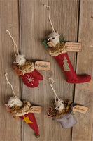 Primitive Mice Christmas Ornaments