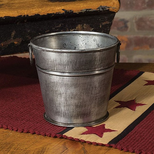 Small Primitive Metal Farm Bucket