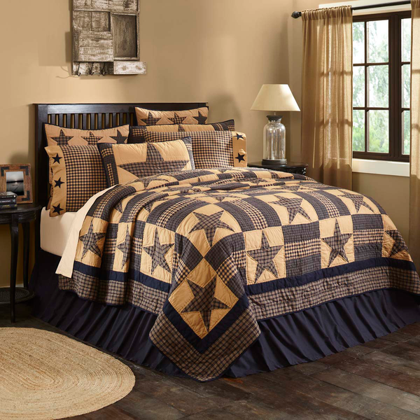 Rustic Country Primitive Teton Star Quilt - BJS Country Charm