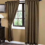 Black Star Scalloped Curtain Panels - BJS Country Charm
