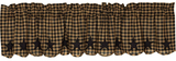 Country Primitive Black Star Scalloped Valance - BJS Country Charm