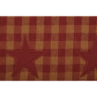 "Country Primitive Burgundy Star Woven Runner 36"" - BJS Country Charm"
