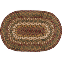 Country Primitive Tea Cabin Braided Placemat 12 x 18 - BJS Country Charm