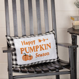 Annie Buffalo Black Check Happy Pumpkin Season Pillow 14x22 - BJS Country Charm