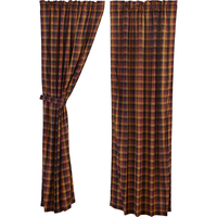 Heritage Farms Country Primitive Check Curtains - BJS Country Charm