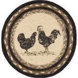 "Sawyer Mill Poultry Rooster Braided Trivet 8"" - BJS Country Charm"