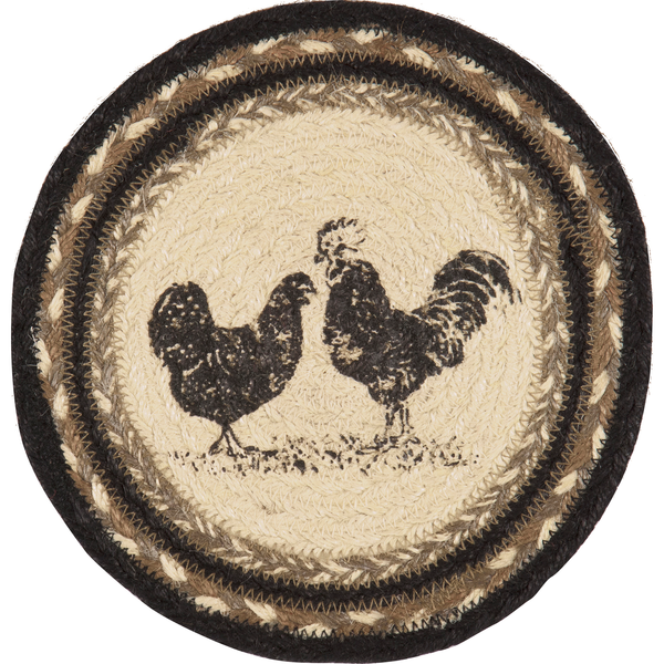 Sawyer Mill Braided Rooster Trivet