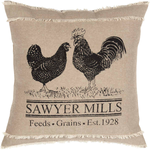 Sawyer Mill Charcoal Poultry Pillow 18x18