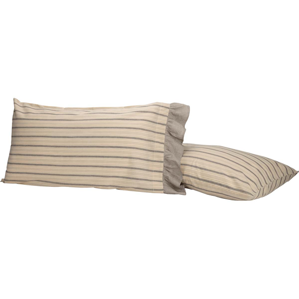 Sawyer Mill Charcoal King Pillow Case Set of 2