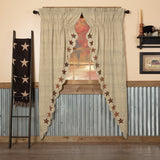 Primitive Abilene Star Prairie Swag Curtains - BJS Country Charm