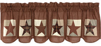 Primitive Abilene Patch Block and Star Valance - BJS Country Charm