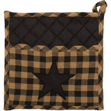 Country Primitive Black Star Pot Holder - BJS Country Charm