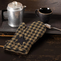 Country Primitive Black Star Oven Mitt - BJS Country Charm