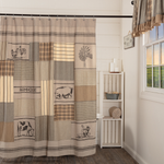 Country Farmhouse Sawyer Mill Patchwork Shower Curtain