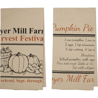 Sawyer Mill Harvest Natural Muslin Tea Towel Set - BJS Country Charm
