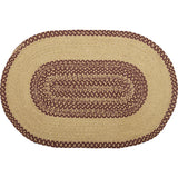 Burgundy Star Braided Rug Oval 20x30 - BJS Country Charm