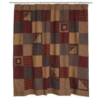 Country Primitive Millsboro Patchwork Shower Curtain