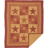Ninepatch Star Quilted Throw - BJS Country Charm
