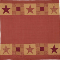 Country Primitive Ninepatch Star Shower Curtain - BJS Country Charm