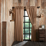 Country Primitive Millsboro Scalloped Curtain Panels - BJS Country Charm