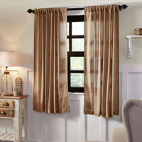 Burlap Natural Curtain Panels - BJS Country Charm