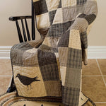Country Primitive Kettle Grove Quilted Throw - BJS Country Charm