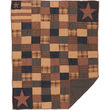 Country Primitive Patriotic Patch Quilted Throw - BJS Country Charm