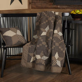 Country Primitive Farmhouse Star Quilted Throw Blanket Cover 60x50 - BJS Country Charm