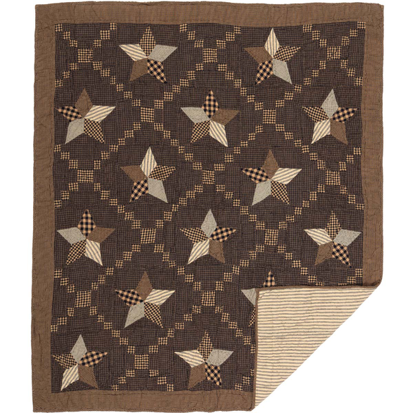 Primitive Farmhouse Star Quilted Throw