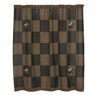 Country Primitive Farmhouse Star Shower Curtain - BJS Country Charm