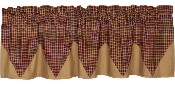 Primitive Patriotic Patch Layered Valance Curtain