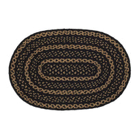 Farmhouse Jute Oval Rug 20x30 Black & Tan - BJS Country Charm