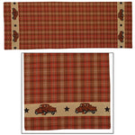 Country Primitive Thanksgiving Fall Truck Table Runner 36""
